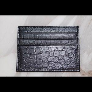 Handbags - Genuine Leather Croc Pattern Card Holder Wallet